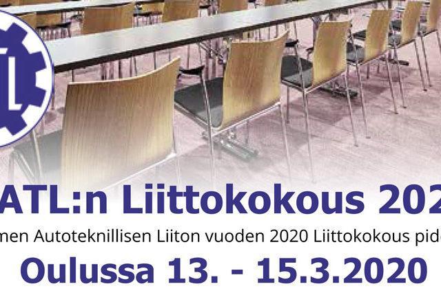 SATL:n 85. Liittokokous Oulussa 13.-15.3.2020