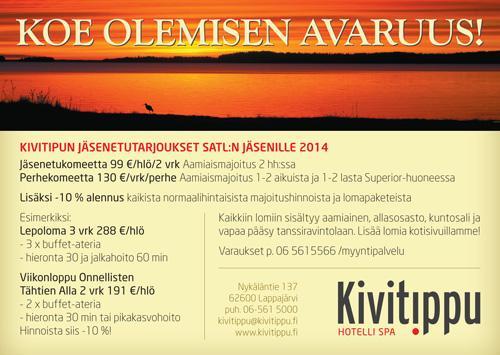 Jäsenetutarjoukset Kylpylä Kivitipussa