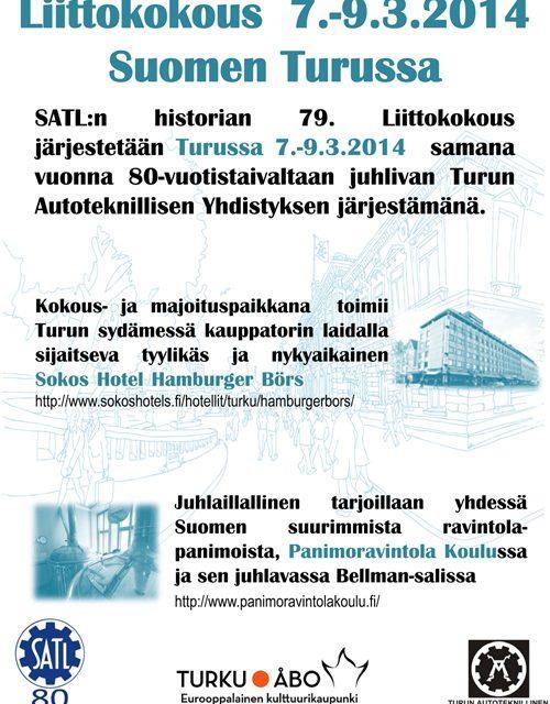 Suomen Autoteknillisen Liiton Liittokokous Turussa 7.-9.3.2014