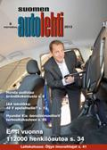 Suomen Autolehti 9/2013 ilmestyy perjantaina 1.11.2013