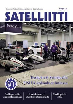 SATL:n jäsenlehti Satelliitti 2/2018 ilmestyi 3.12.2018