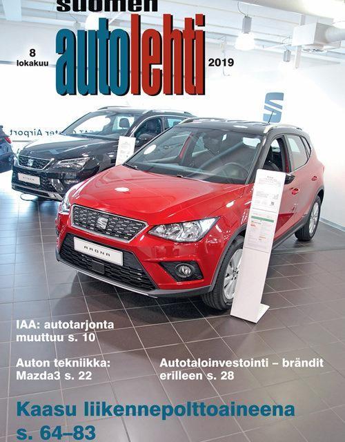 Suomen Autolehti 8/2019 ilmestyy tiistaina 1.10.2019