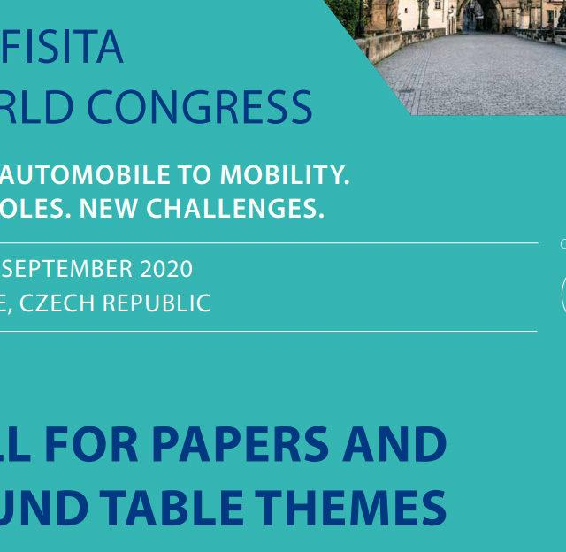 38. FISITA World Congress Call for Papers
