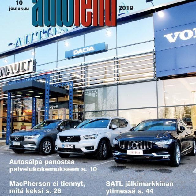 Suomen Autolehden 10/2019 ilmestymispäivä on maanantai 2.12.2019, postin toimitus saattaa viivästyä